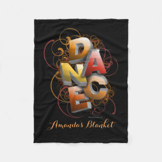 3D Dance (Fall | Personalized) Fleece Blanket