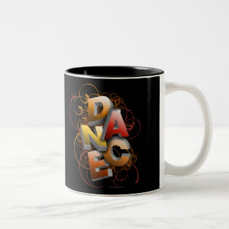 3D Dance (Fall) Two-Tone Coffee Mug