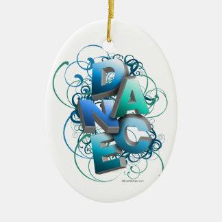 3D Dance (Spring) Ceramic Oval Decoration