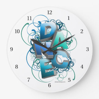 3D Dance (spring) Large Clock