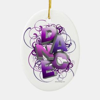 3D Dance (Summer) Ceramic Oval Decoration