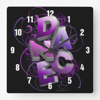 3D Dance (summer) Wall Clocks