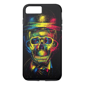 3D death hatter skull iphone 7 plus case