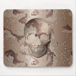 3D Desert Camo Skull Mouse Mat