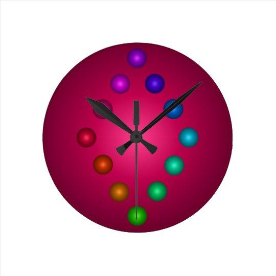 3D Designer Colourful Rainbow Contemporary Decor Round Clock