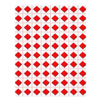 3D diamonds suit pattern Personalized Flyer