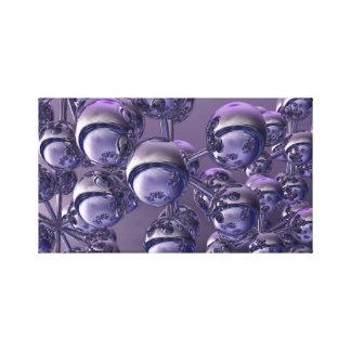 3D Digital Abstract Canvas Art Print - Purple Orbs