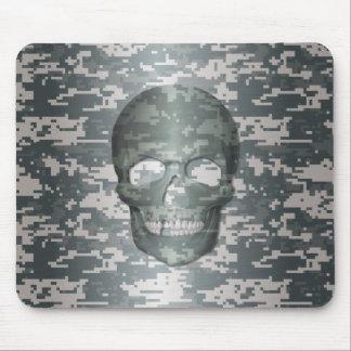 3D Digital Camo Skull Mouse Pads