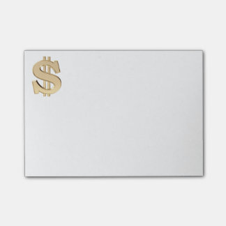 3D dollar sign Post-it Notes