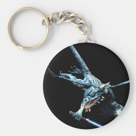 3D Dragon Jedi Basic Round Button Key Ring