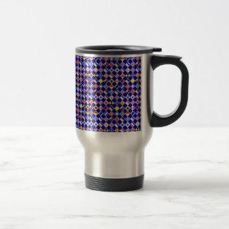 3D Effect Checkered Nautical Flag tiles Motif Stainless Steel Travel Mug