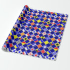 3D Effect Chequered Nautical Flag tiles Decor Wrapping Paper