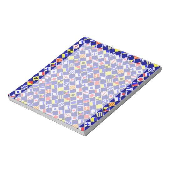 3D Effect Chequered Nautical Flag tiles Motif Notepad