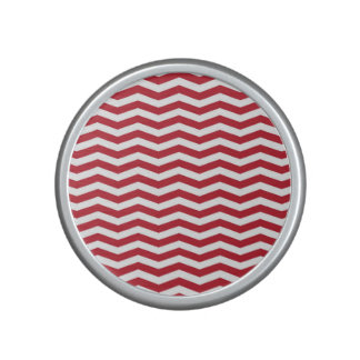 3D Effect Red Holiday Zigzag Pattern Bluetooth Speaker