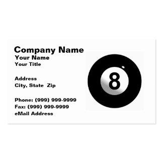 3D Eight Ball Business Card Template