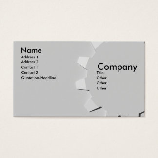 3D Embossed Look Gear Business Card