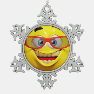 3d emoticon ornament