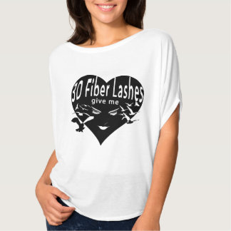 3D Fiber Lashes Give Me Wings (black overlay) T-Shirt