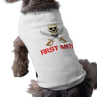 3D First Mate Sleeveless Dog Shirt