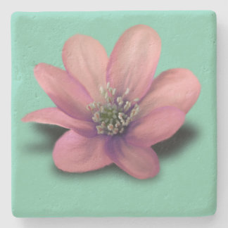 3D flower marble stone coaster
