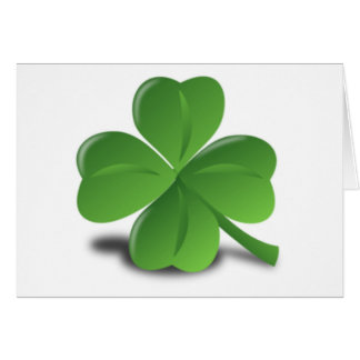 3D Four Leaf Clover Card