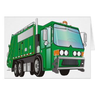 3d Garbage Truck Green Card