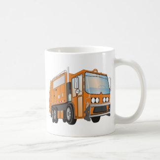3d Garbage Truck Orange Coffee Mug