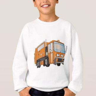 3d Garbage Truck Orange Sweatshirt