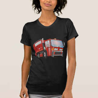 3d Garbage Truck Red T-Shirt