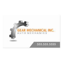 3D Gear Mechanical Business Cards