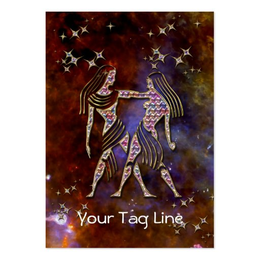3D Gemini - Zodiac Sign - Astrological Sign Business Cards