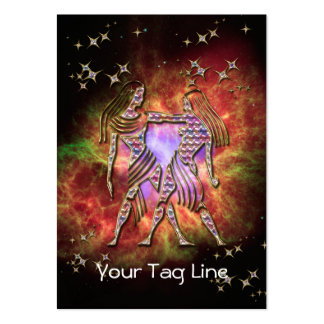 3D Gemini - Zodiac Sign - Astrological Sign Pack Of Chubby Business Cards