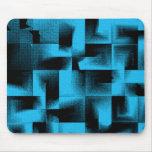 3D Geometrics - Cerulean Blue Deep Mousepad