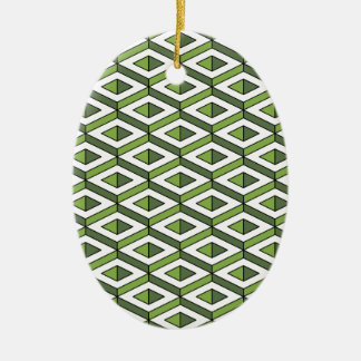 3d geometry greenery and kale ceramic oval decoration