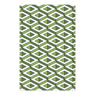 3d geometry greenery and kale stationery