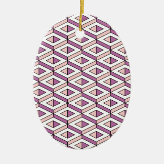 3d geometry rose quartz ceramic oval decoration
