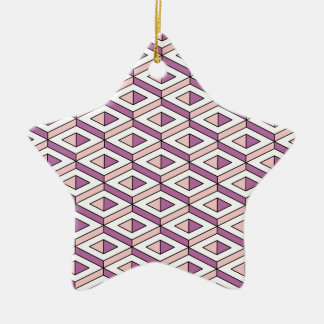 3d geometry rose quartz christmas ornament