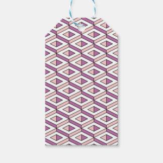 3d geometry rose quartz gift tags