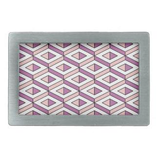 3d geometry rose quartz rectangular belt buckles