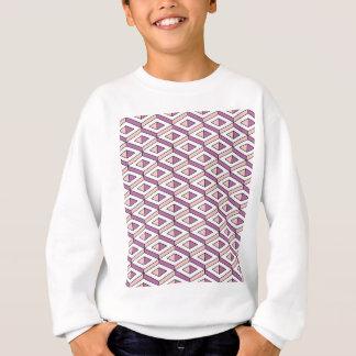 3d geometry rose quartz sweatshirt
