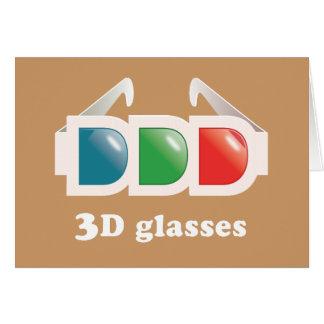 3D Glasses Card