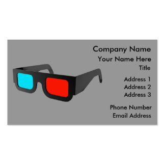 3D Glasses in Black White Business Cards