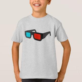 3D Glasses in Black & White T-Shirt