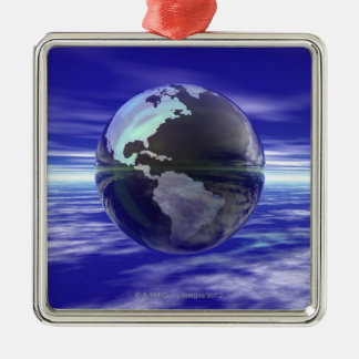 3D Globe 10 Christmas Ornament