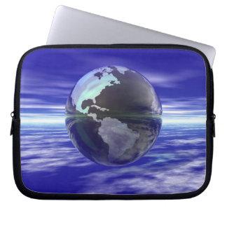 3D Globe 10 Laptop Computer Sleeve