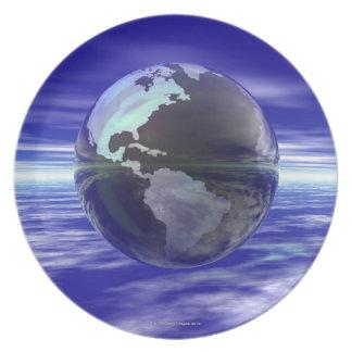 3D Globe 10 Plate