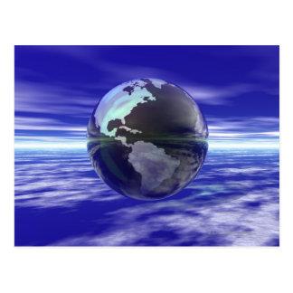 3D Globe 10 Postcard