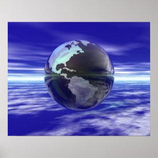 3D Globe 10 Poster
