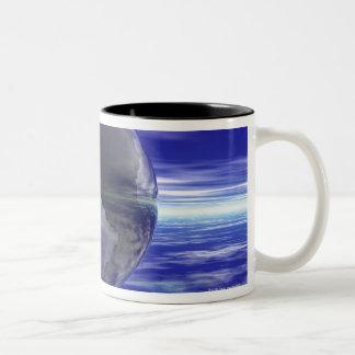 3D Globe 10 Two-Tone Coffee Mug