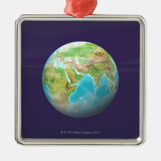3D Globe 11 Christmas Ornament